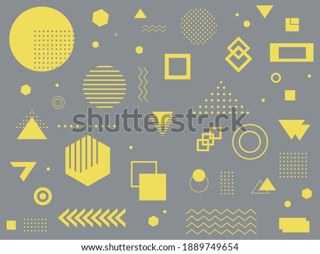 Gray abstract background with geometric shapes. Trendy backgrounds with color Ultimate Grey and llluminating of the 2021 year.