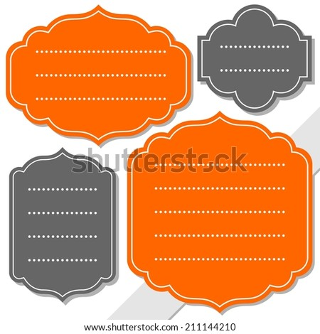 gray and orange retro shaped