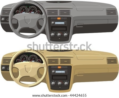 gray and tan car dash boards