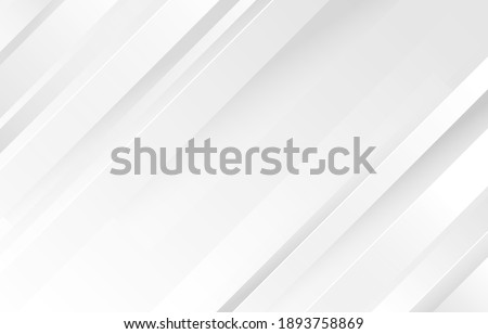 Gray and white diagonal line architecture geometry tech abstract subtle background vector illustration. Сток-фото ©