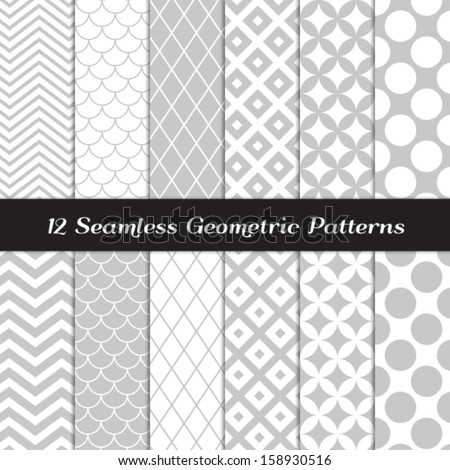 stock-vector-gray-and-white-geometric-patterns-retro-mod-backgrounds-in-jumbo-polka-dot-diamond-lattice