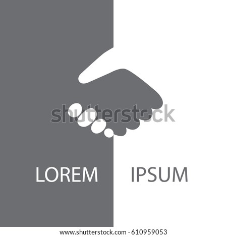 Gray and white handshake background for business agreement, deal, partnership.