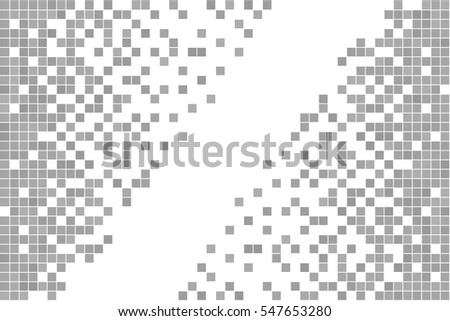 Gray and white pixel background.  Abstract vector Illustration. Modern technology design.