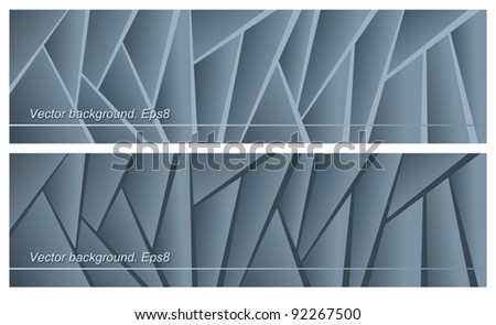Gray background, striped, vector