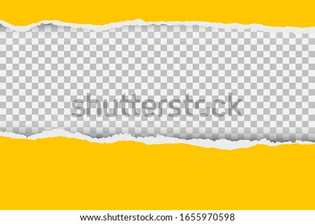 Gray background with copyspace and torn paper edge. Vector illustration.