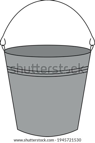 gray bucket with handle and without liquid  Сток-фото ©
