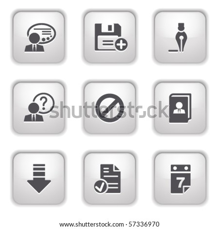 Gray button for internet 2