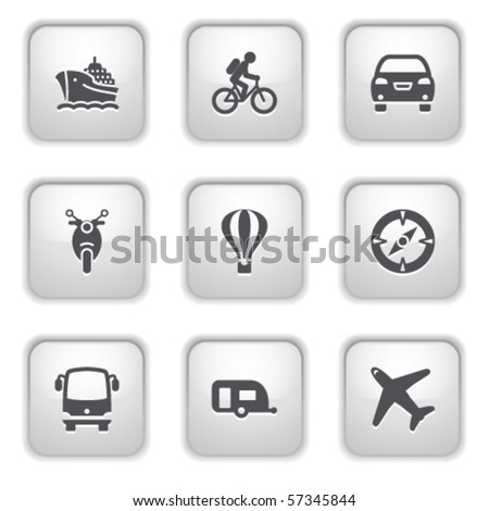 Gray button for internet 20 - stock vector