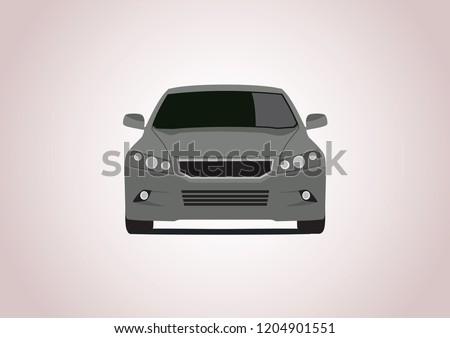 gray car vector layout honda