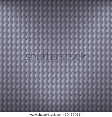Gray carbon seamless pattern with squama symbol, vector, 10eps.