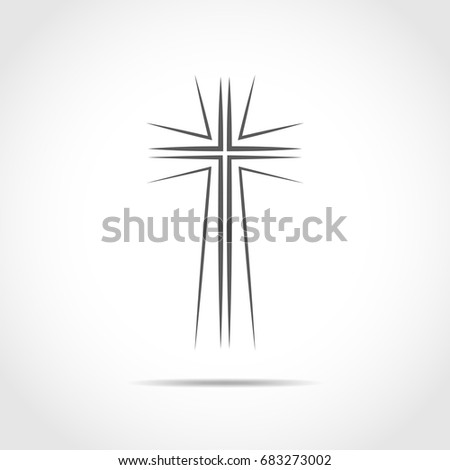 gray christian cross icon