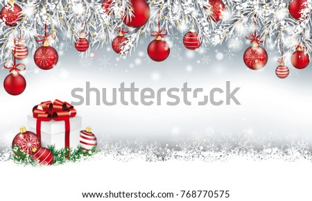 gray christmas card with with