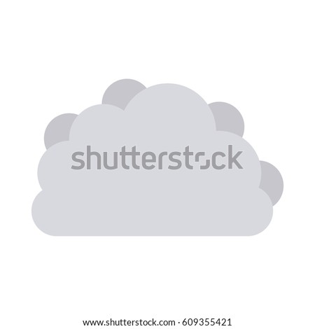gray cloud tridimensional in