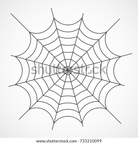 Gray cobweb isolated on light background. Vector illustration. Spider cobweb icon