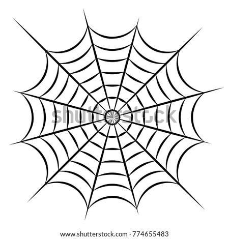 Gray cobweb isolated on white background. Vector illustration. Spider cobweb icon