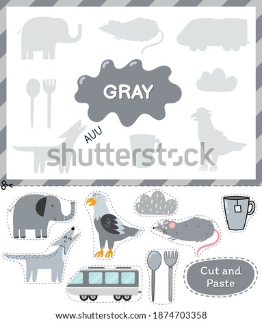 gray color cut the elements