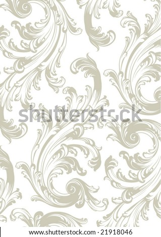 Gray floral vector background