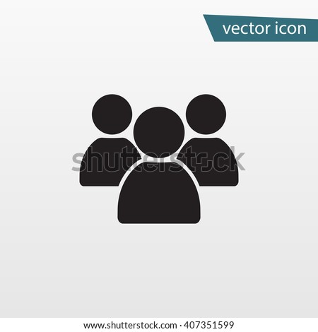 Gray Group People icon isolated on background. Modern simple flat friends sign. Business, internet concept. Trendy vector network symbol for website design, web button, mobile app. Logo illustration