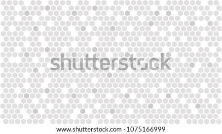 Gray hexagonal background. Abstract hexagon pattern. Vector illustration EPS10