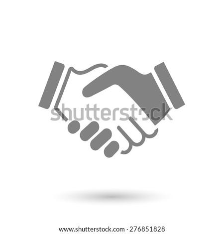gray icon handshake background