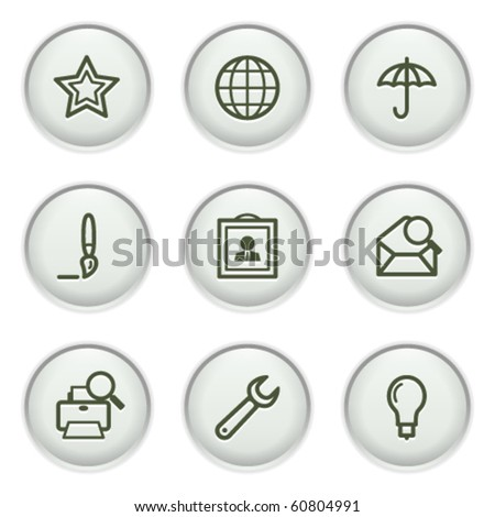 Gray icon with button 9