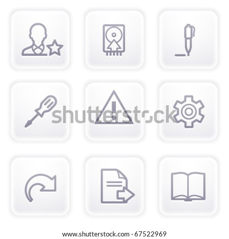 Gray icon with buttons 7