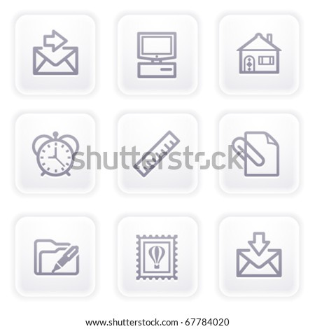 Gray icon with buttons 27 - stock vector