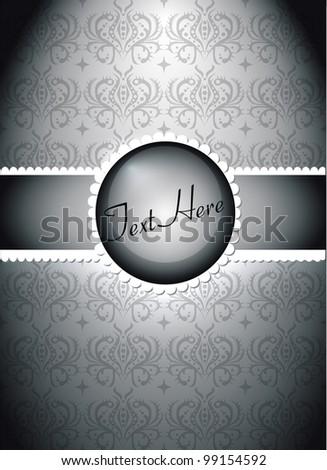 Gray Invitation Card eps10