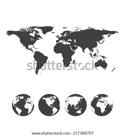 gray map of the world with