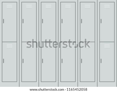 gray metal lockers wall