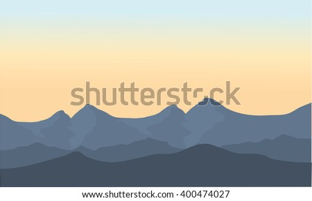 gray mountain of scenery at the