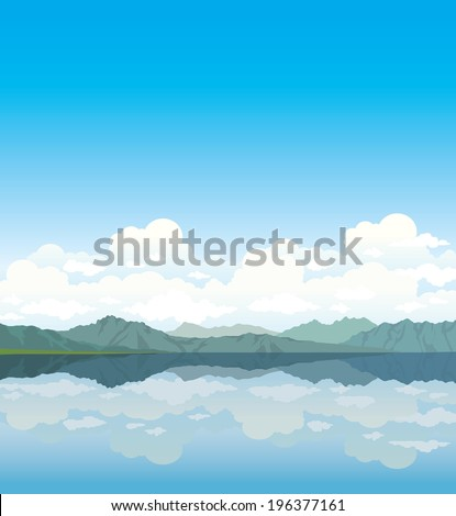 gray mountains and group of