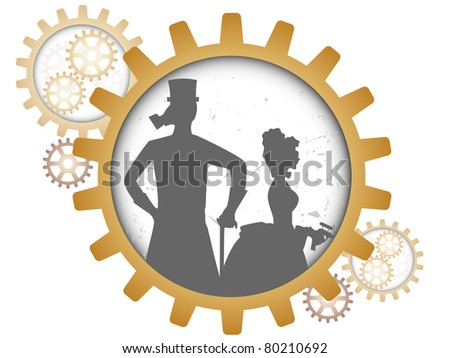 gray outline of man and woman