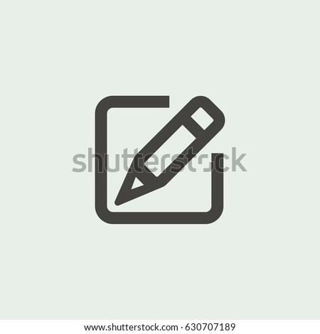 Gray paper notebook note icon with pen vector silhouette, Document on isolated gray background #630707189