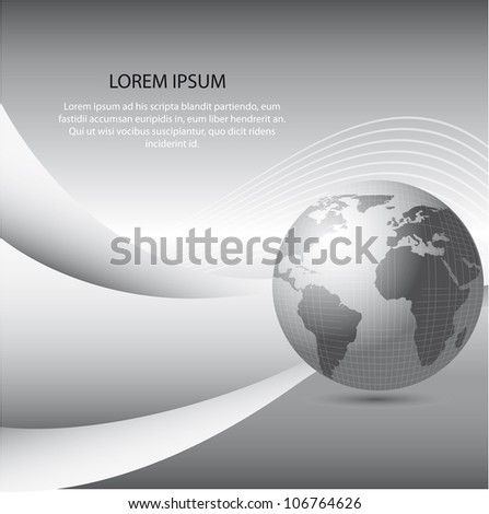 gray planet with space for copy. vector illustration
