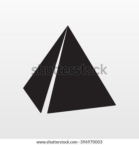 Gray Pyramids icon isolated on background. Modern flat pictogram, business, Architecture, internet concept. Trendy Simple vector symbol for web site design or button to mobile app. Logo illustration.