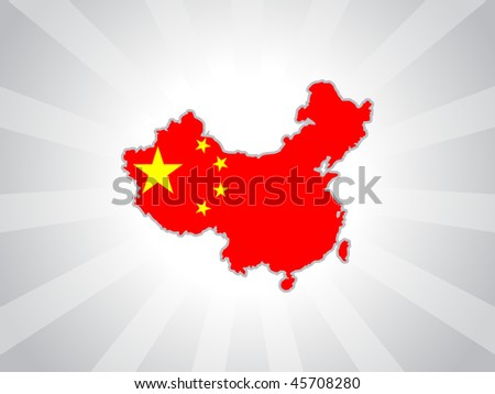 gray rays background with china