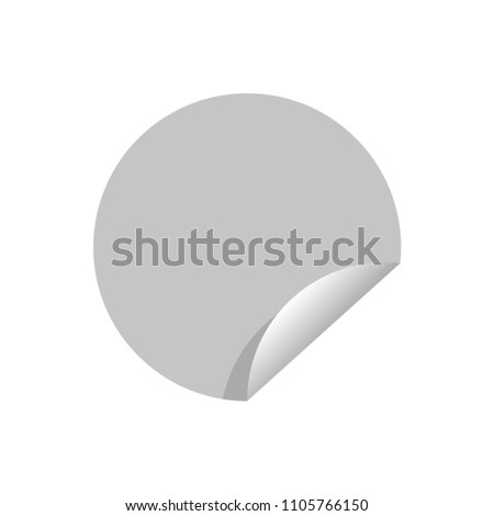 Gray round paper sticker #1105766150