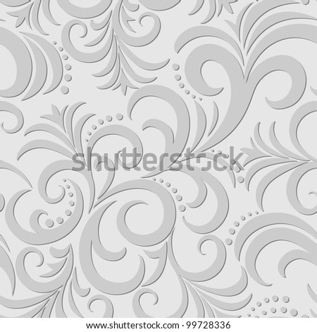 gray seamless background with abstract patterns of swirly