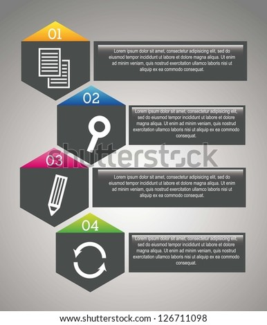 gray seo labels over gray background. vector illustration