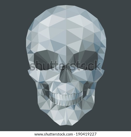 gray  skull by triangles