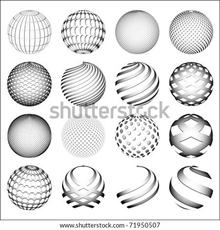 gray sphere  world globe