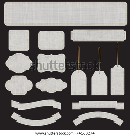 Gray textured banners and labels