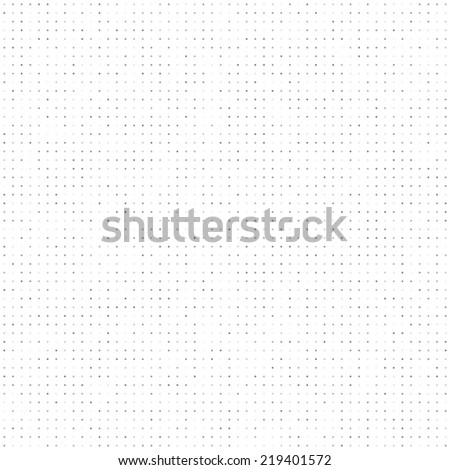 Gray tinted dots seamless pattern. White background.