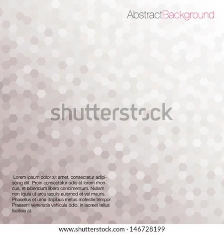 Gray Tones Hexagonal Honeycomb Abstract Background - Vector EPS10
