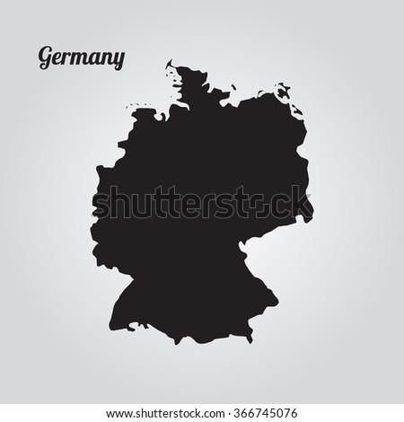 gray vector map germany
