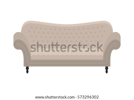 gray vintage sofa icon of