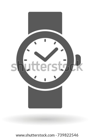 gray watch icon with a shadow