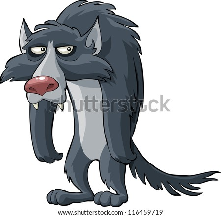 Gray wolf on a white background vector illustration