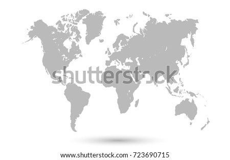Free vector grey world map download free vector art stock gray world map sciox Choice Image